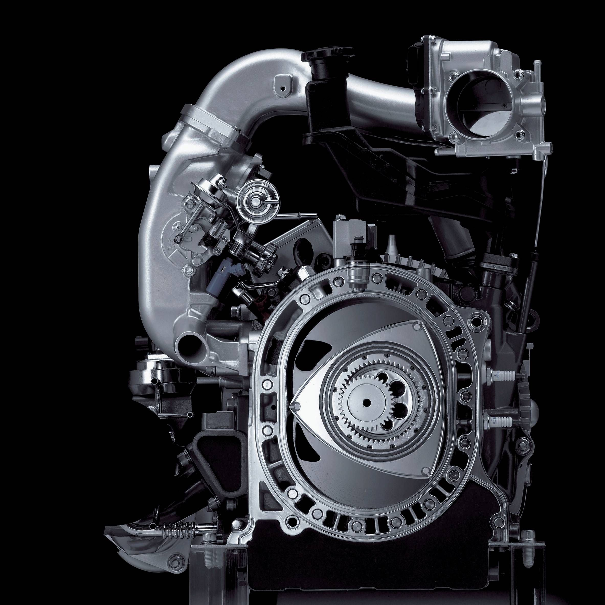 13b Engine: Cutaway Of Mazda Rotary Engine