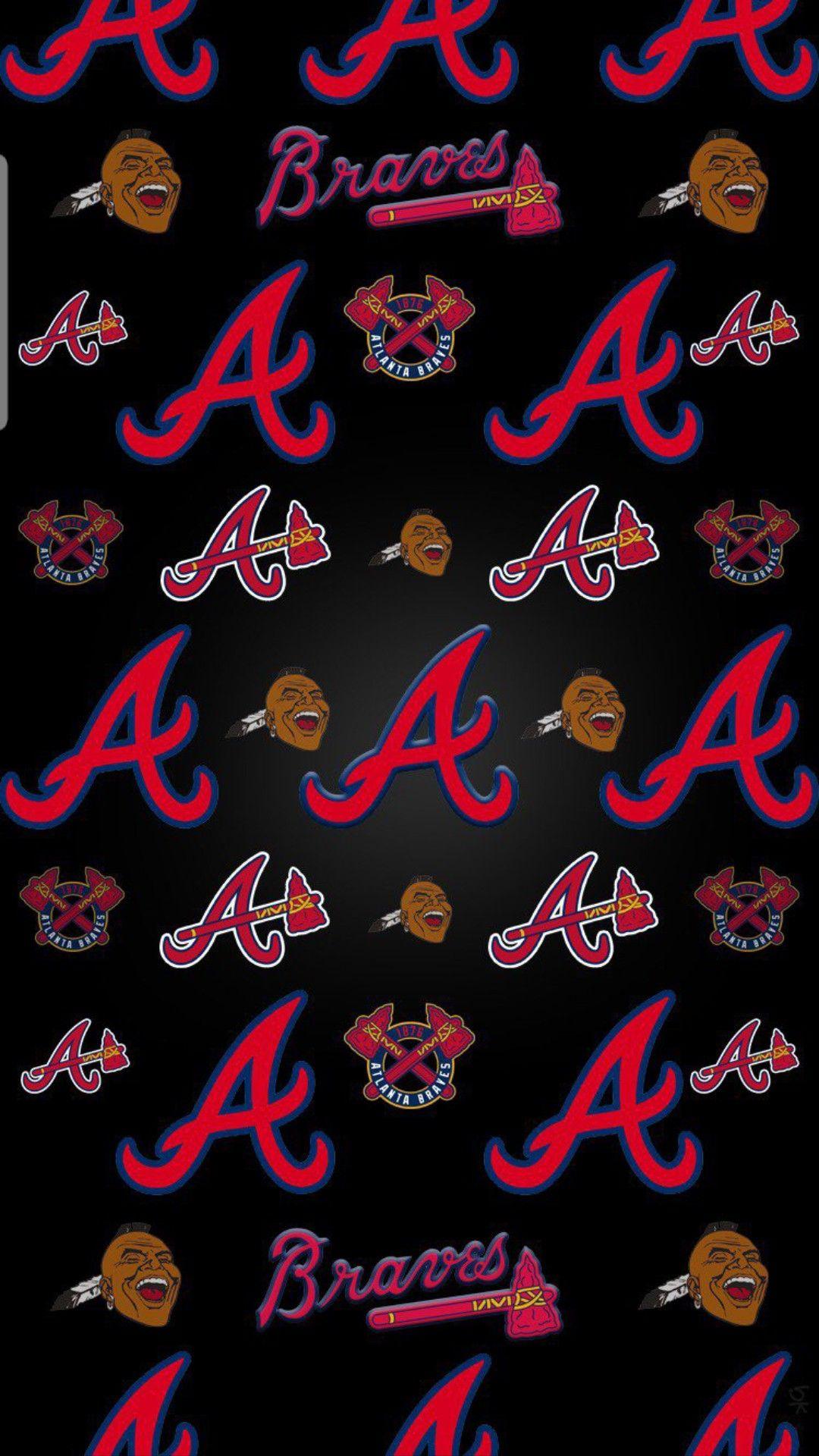Pin By Atl 305 On Atlanta Braves Atlanta Braves Wallpaper Atlanta Braves Baseball Atlanta Braves Logo