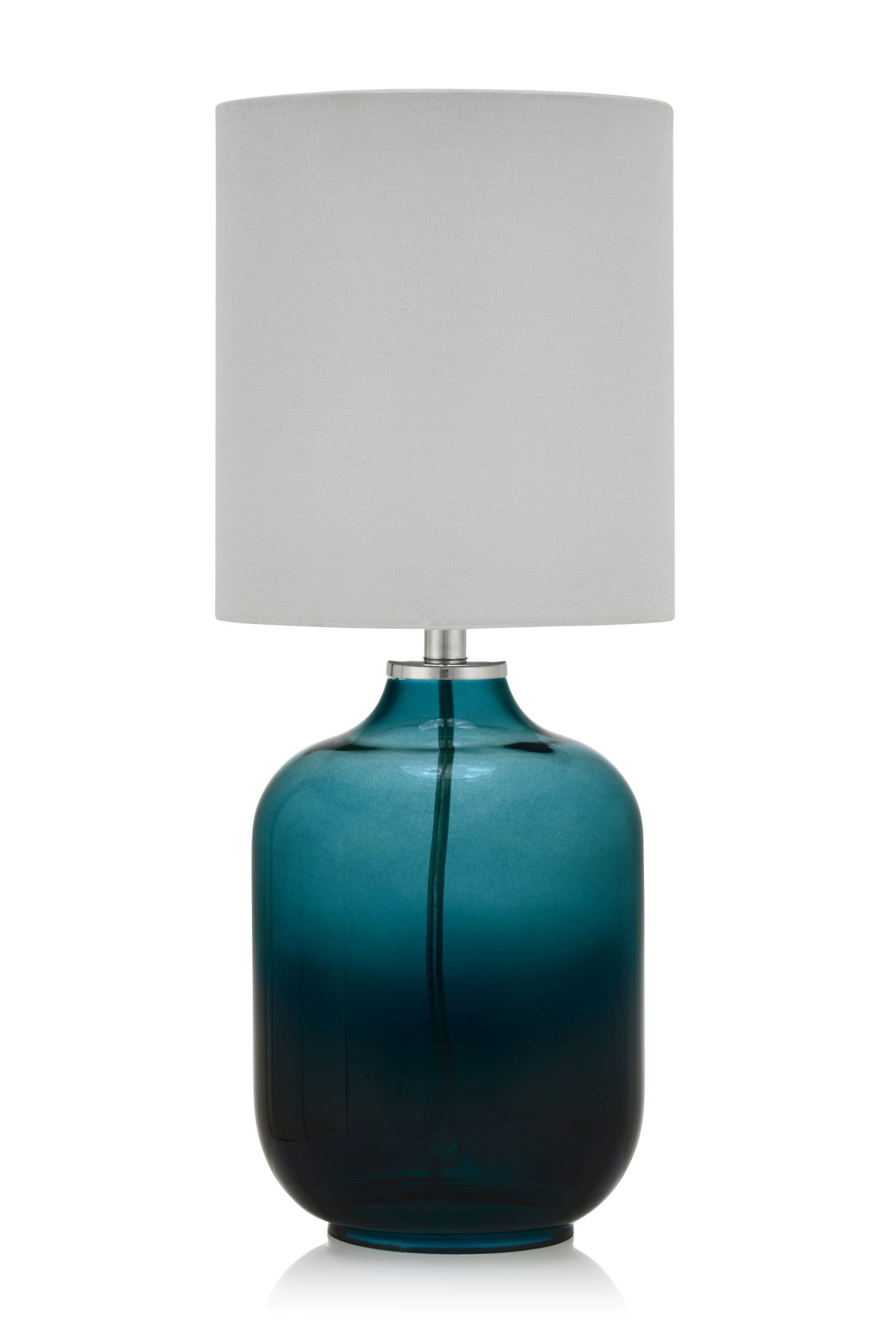 Buy teal capsule glass table lamp from the next uk online shop buy teal capsule glass table lamp from the next uk online shop aloadofball Images