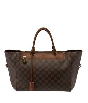 7b1b5f747fe40 Louis Vuitton Greenwich Damier Ebene Zip (36461) Brown Tote Bag. Get one of