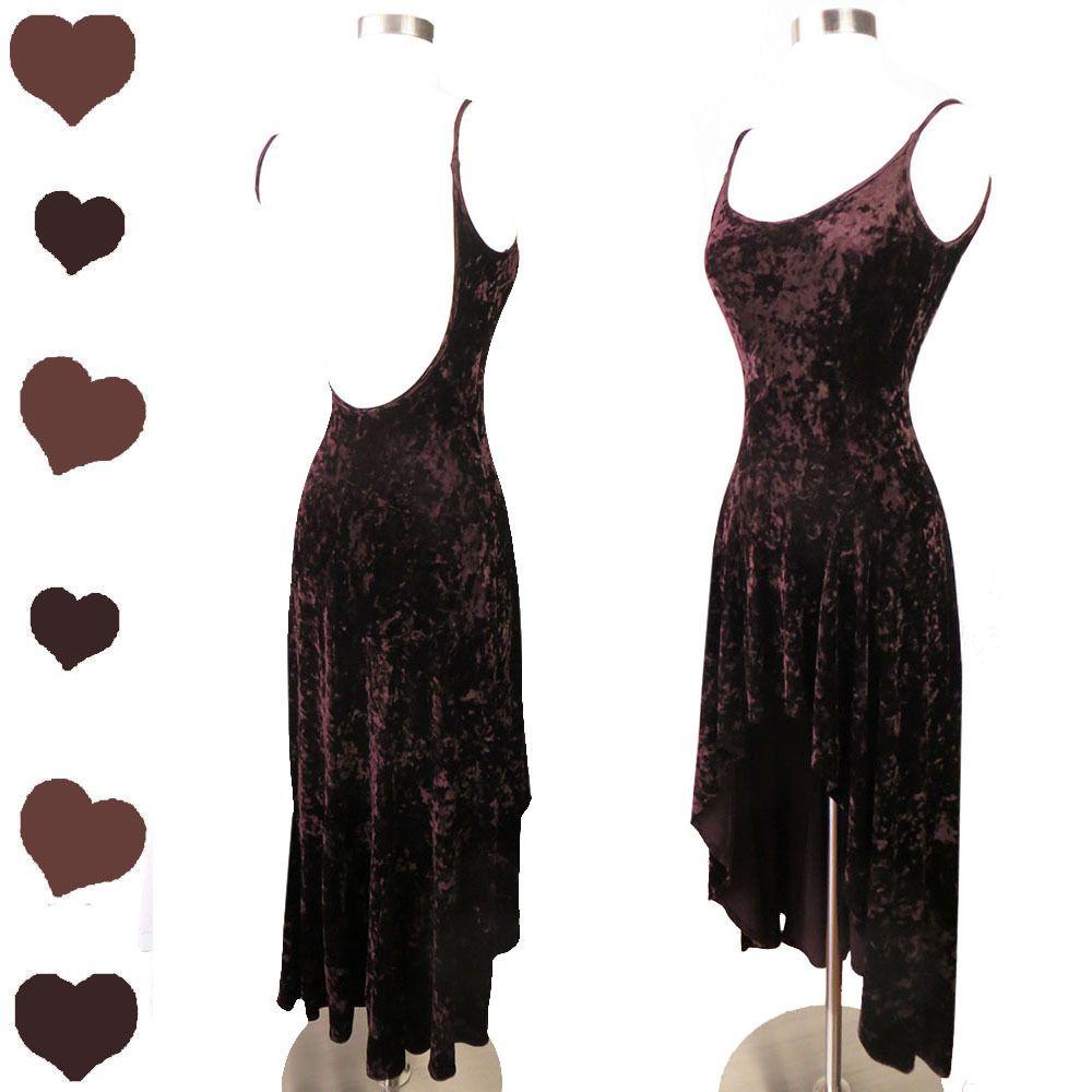 Vintage s s crushed velvet dress xs pinupdresses