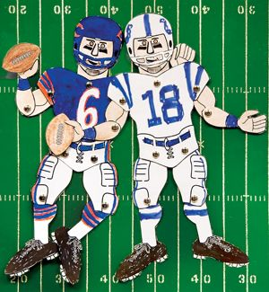 Super Bowl Coloring Page Make Your Own Football Player With This