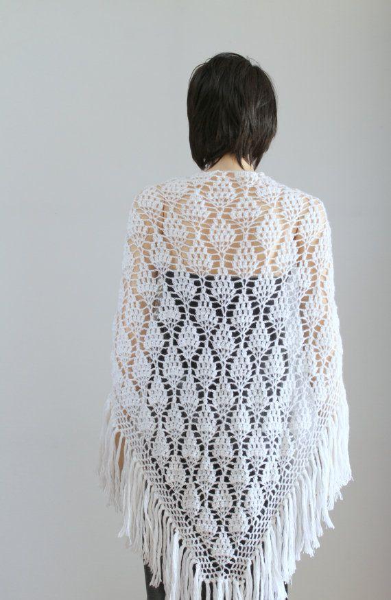 Wedding shawl Wraps shawls Large Shawll White shawl Lace Crochet ...