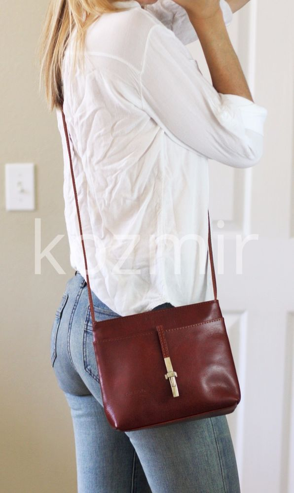 3b597af298953 FLORENCE Made In Italy LEATHER SHOULDER BAG Small Crossbody Purse ...