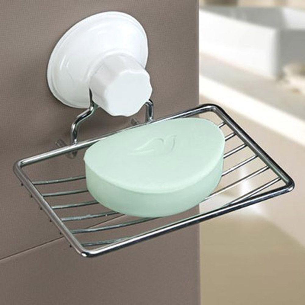 Salle De Bain Moderne Design ~ plastic metal salle de bain sucker soap dish kitchen organizer