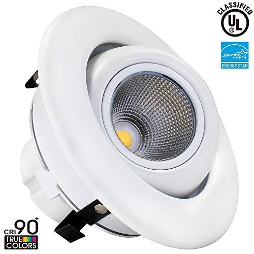 10w 4 Inch Dimmable Gimbal Directional Retrofit Led Recessed Lighting Fixture 75w Equivalent 2700k Warm White Remodel Adjustable R Home Improvement Downl
