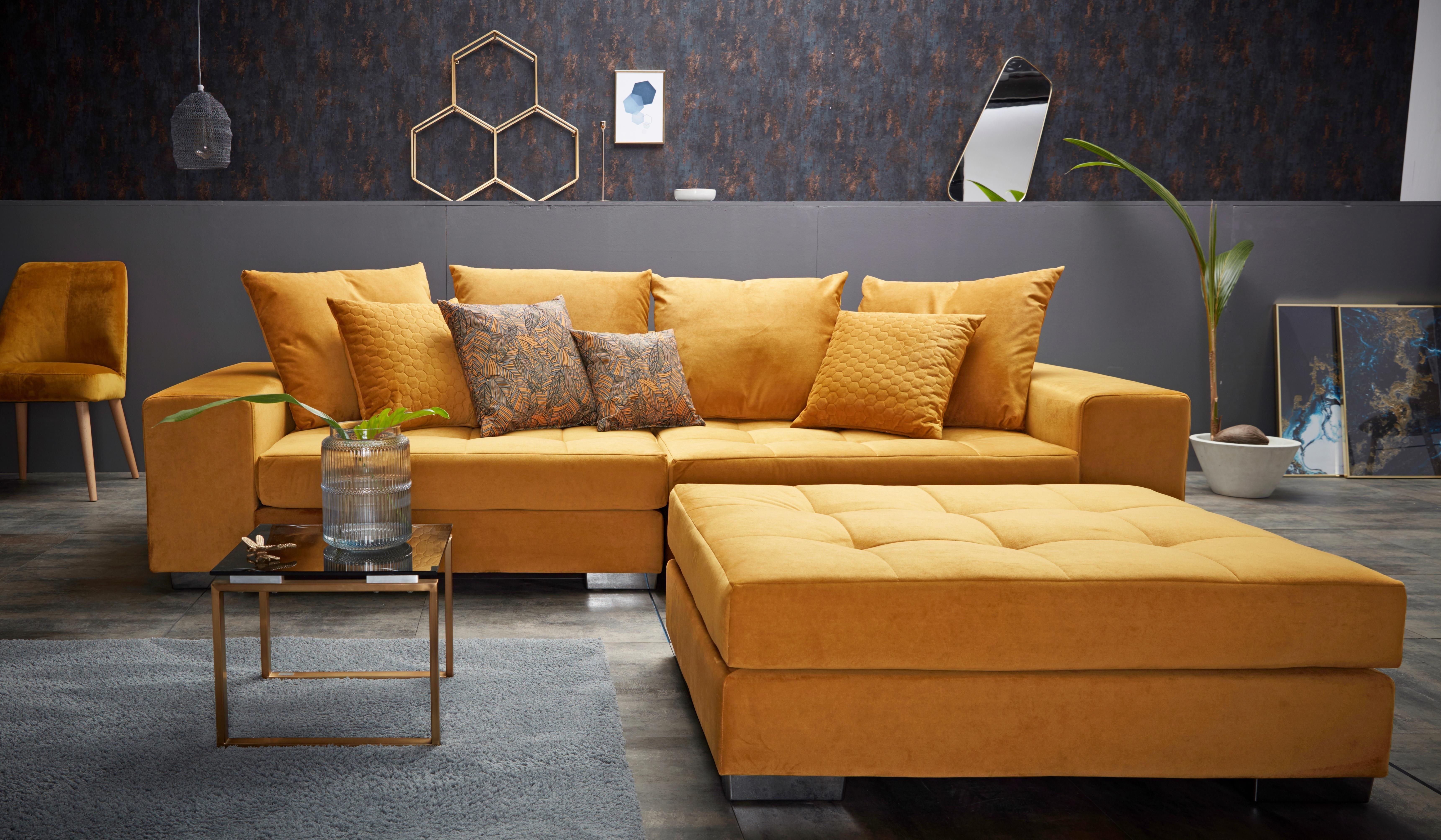 Inosign Big Sofa Vale Mit Steppung Im Sitzbereich Federkern Und Zierkissen Auf Raten Kaufen Quelle De Grosse Sofas Wohnen Sofa