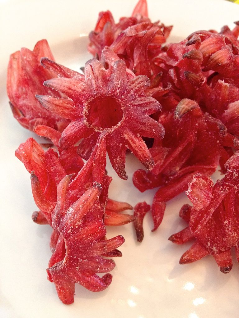 Dried hibiscus flowers make a tasty snack no really hibiscus dried candied rosellas raw desserts raw dessert recipes candy recipes flower making izmirmasajfo