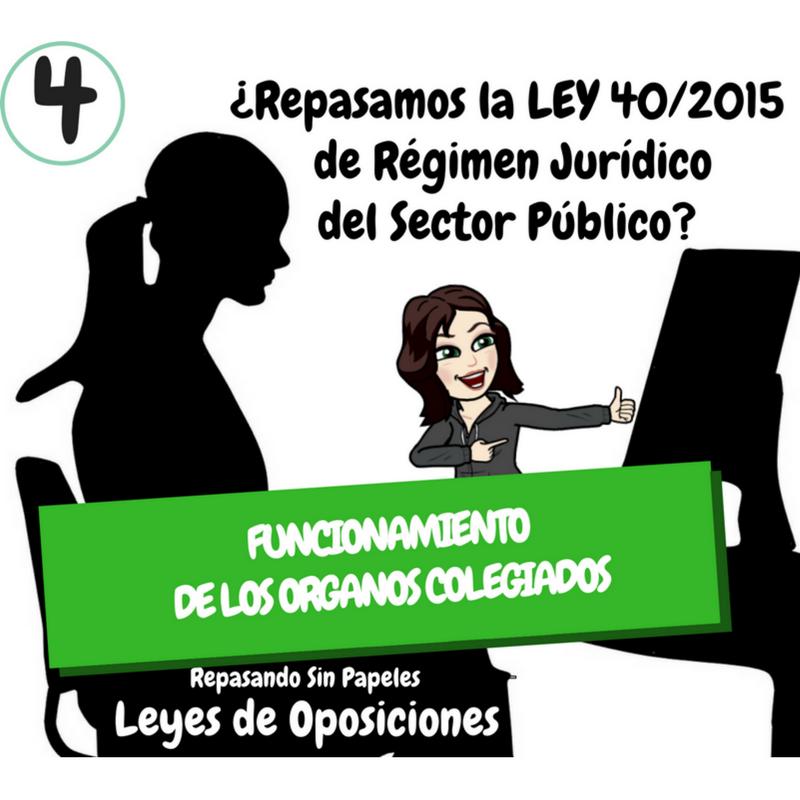 Artículos 15 18 Ley 40 2015 Funcionamiento De Los órganos Colegiados Ley 40 2015 De Régimen Jurídico Del Sector Público Oposicion Oposicion Juridico Ley