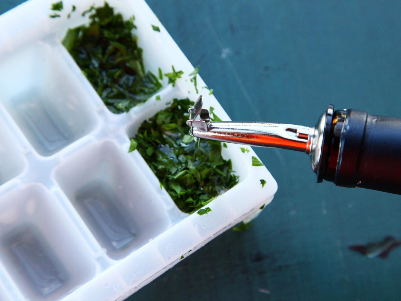 Freeze fresh herbs for longterm storage frozen fresh