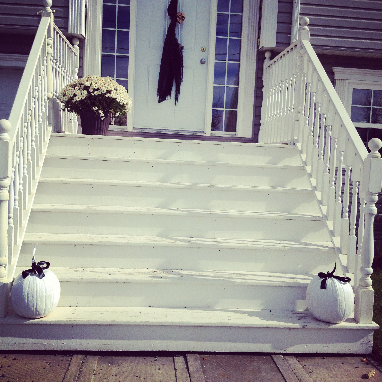 Modern white pumpkins