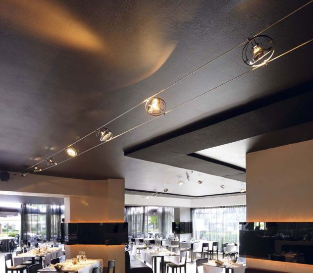 Tray Ceiling With Uplighting Image Result For Cable Lighting System Restaurant | Track