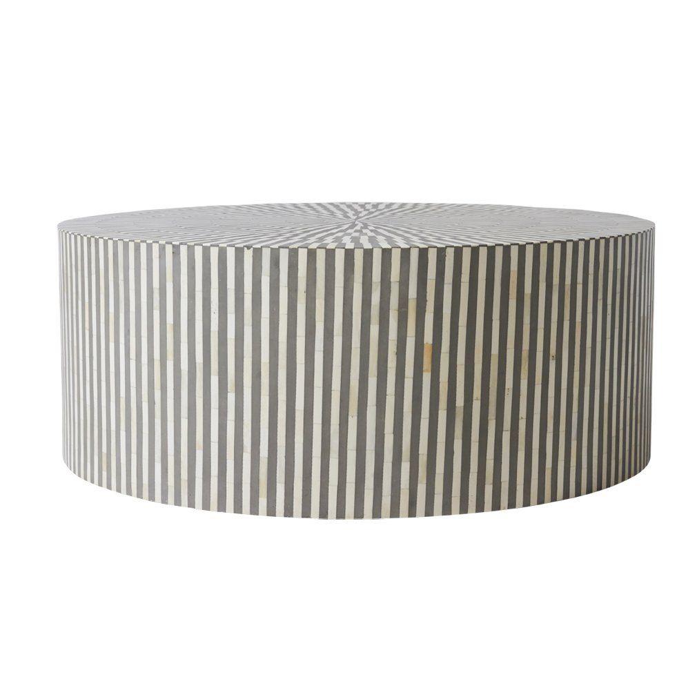 Oaken Bone Inlay Coffee Table Coffee Table Grey Art Deco Living