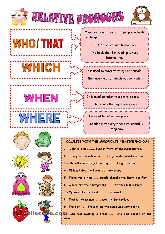 Relative Pronouns Worksheet 4th Grade In 2020 Relative Pronouns Pronoun Worksheets Relative Clauses