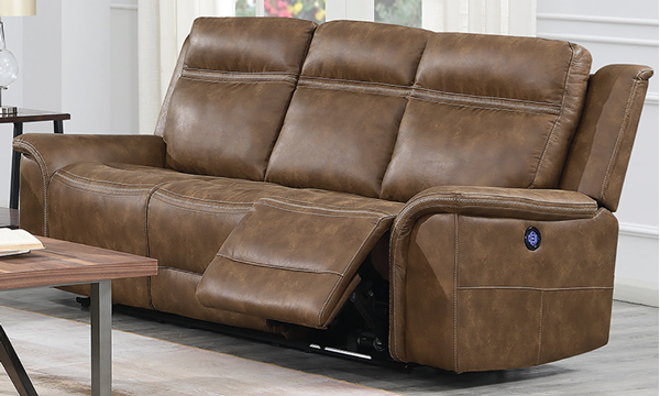 Super Madera 91 Inch Power Reclining Sofa With Power Headrest In Dailytribune Chair Design For Home Dailytribuneorg