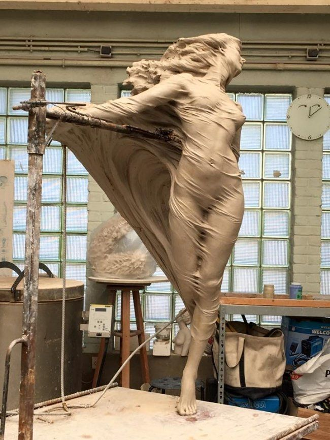 Estas hermosas esculturas parecen estár a punto de cobrar vida