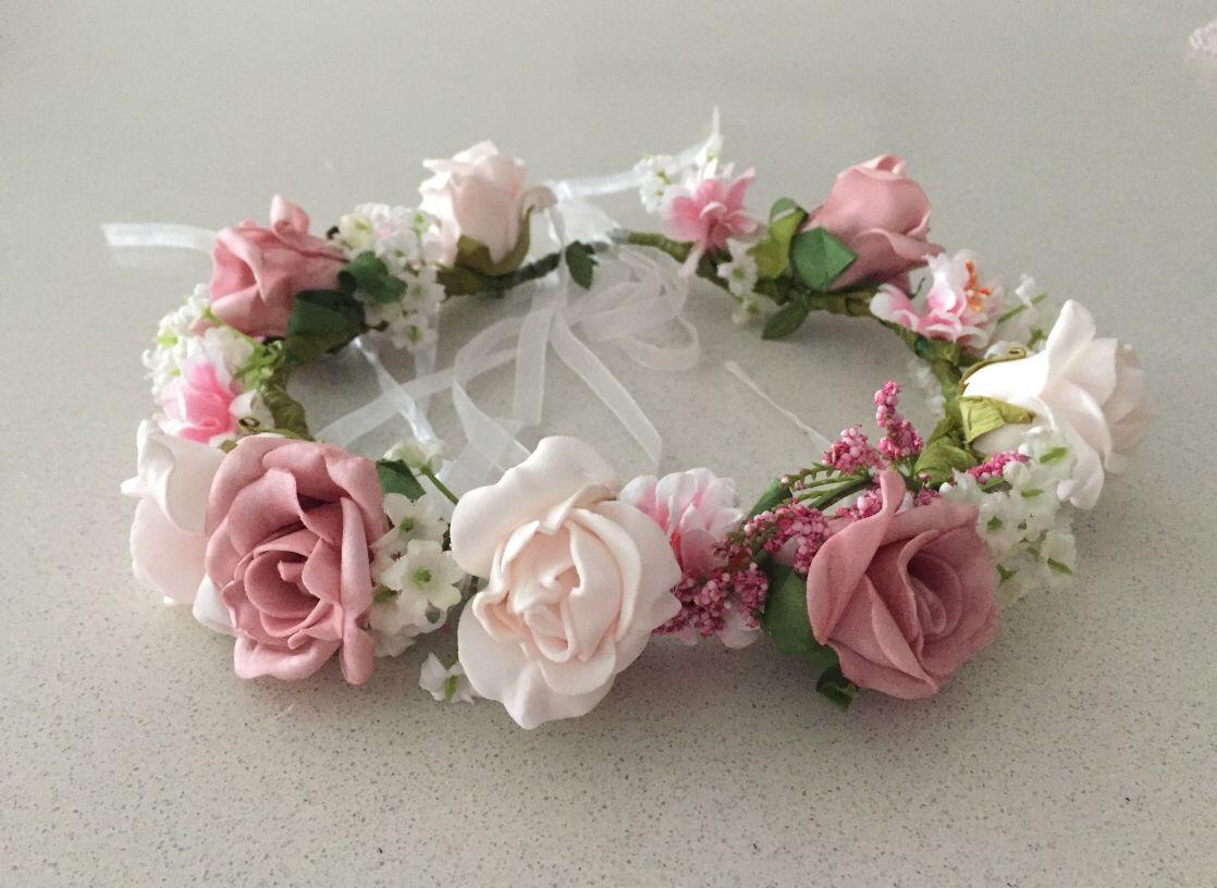 Piper Rose Flower Crown Pink Flower Crown Flower Crown Rose Flower Crown