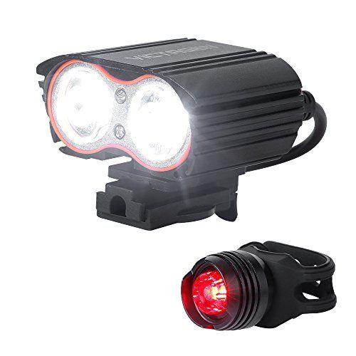 Victagen Bike Front Lightsuper Bright Waterproof Bicycle Lightusb Rechargeable 2400 Lumens Led Cycle Light Free Tai Bike Headlight Bike Front Light Bike Lights