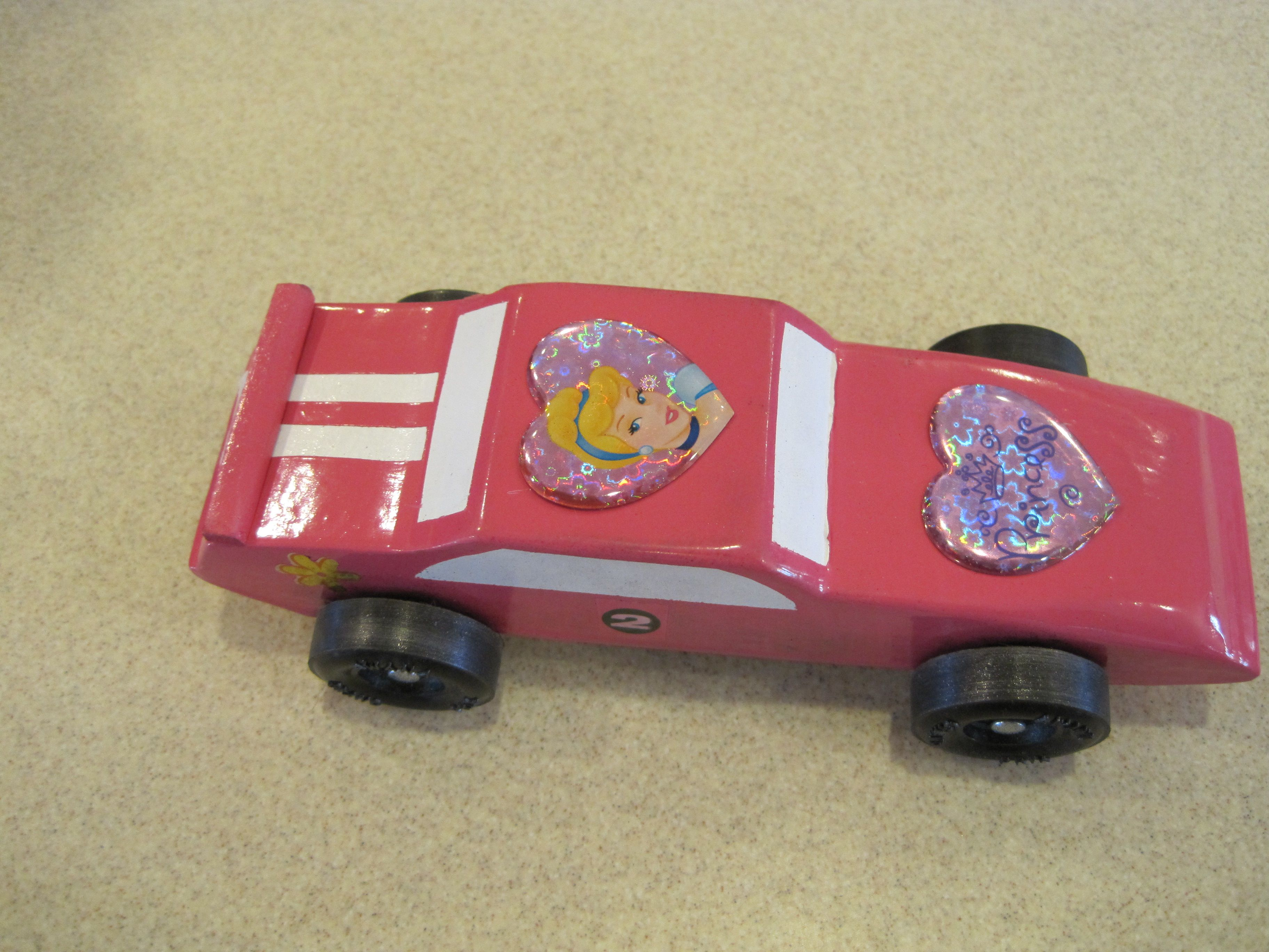 Princess Car With Some Racing Stripes
