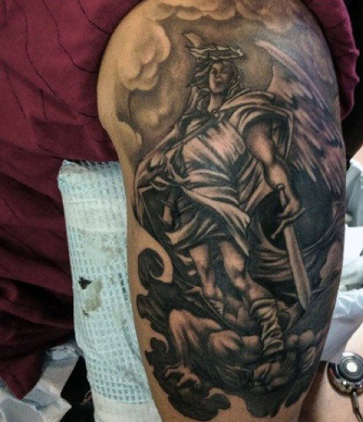 75 St Michael Tattoo Designs For Men - Archangel And ...