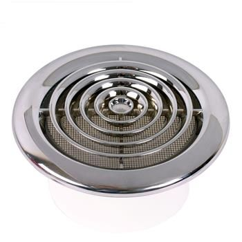 round ceiling diffuser chrome circular grille 4 100mm hunter fan bennett collection