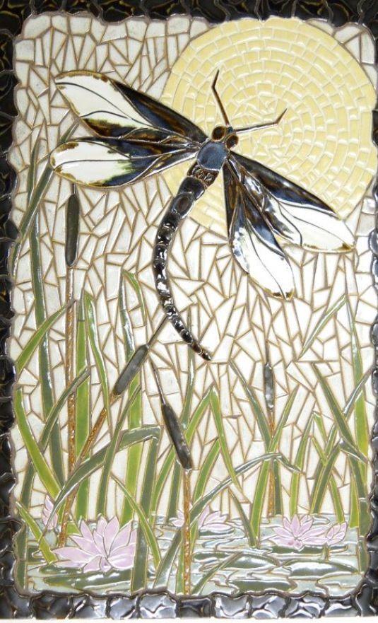 Pin de Jane O\'Brien en Mosaics | Pinterest | Mosaicos, Libélulas y ...
