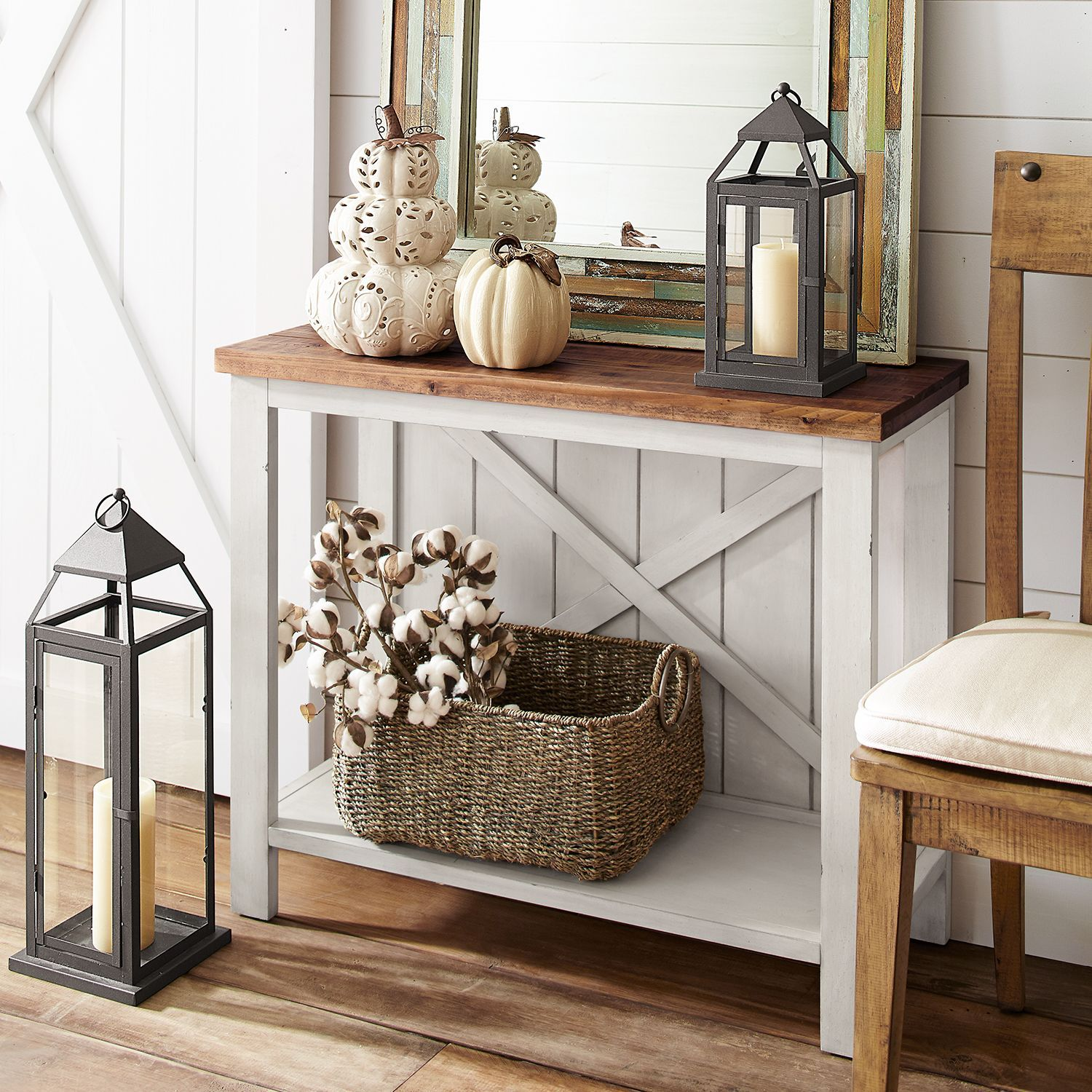 Farmhouse White Small Console Table In 2019