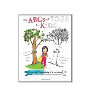 abcs of yoga for kids books learning cards  posters