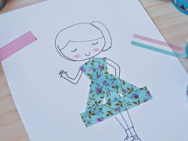 diy: dibujar con washi tape