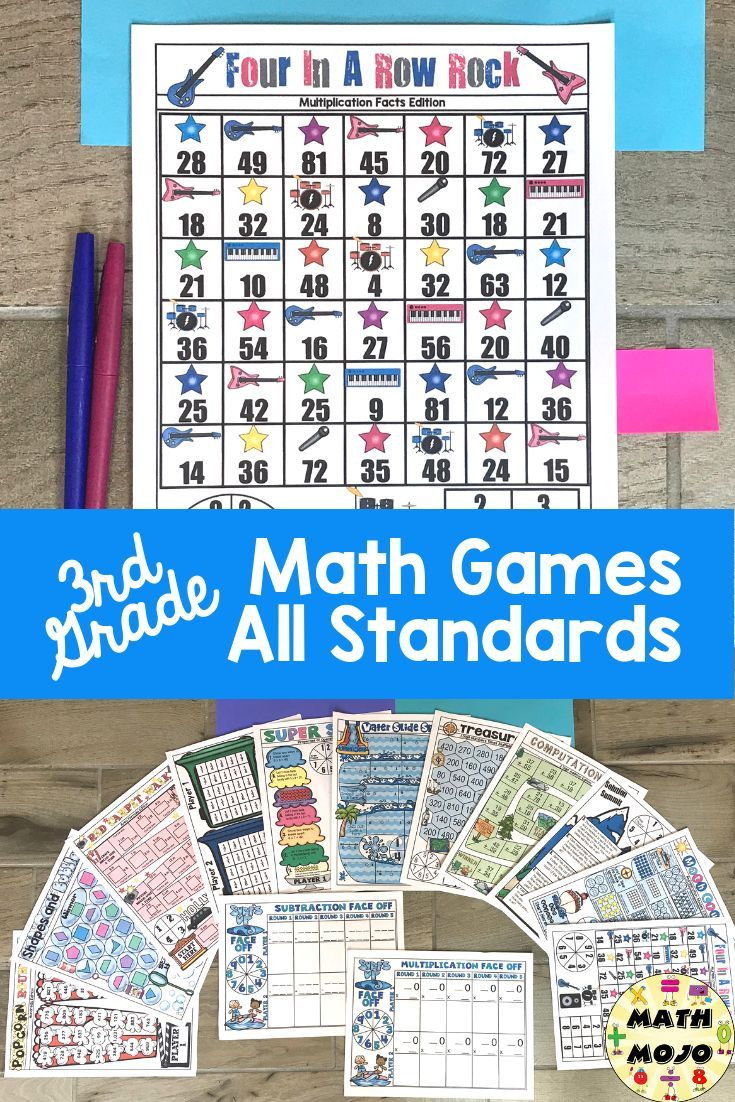 3rd Grade Math Games All 3rd Grade Math Standards Bundle