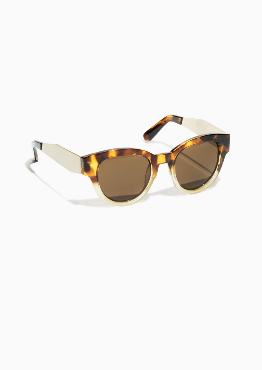 d37d9062c0330   Other Stories Semi Round Sunglasses in Tortoise-Shell