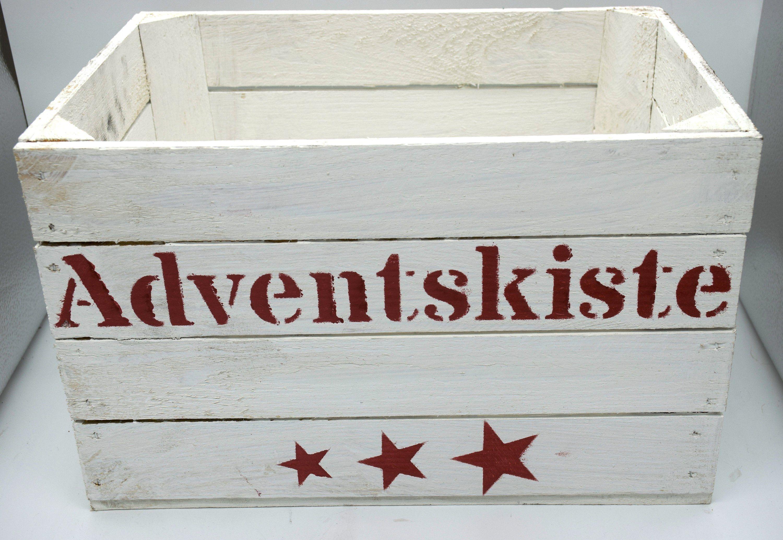 Schablone Adventskisteschriftzugadventskalenderholzkiste