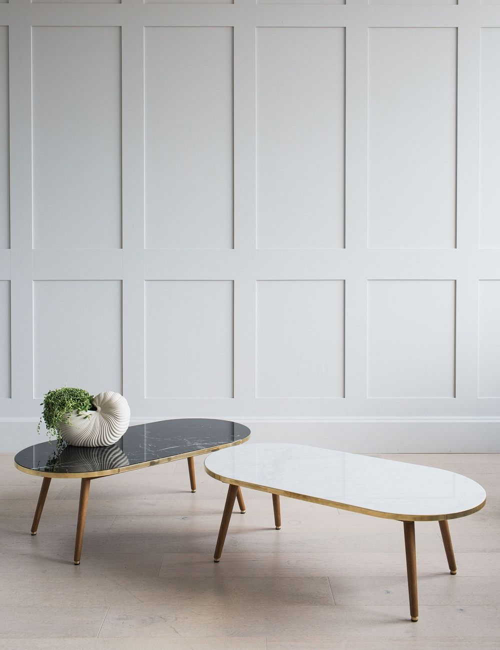 Oval Marble Wood Coffee Table White Di 2020 [ 1300 x 1000 Pixel ]