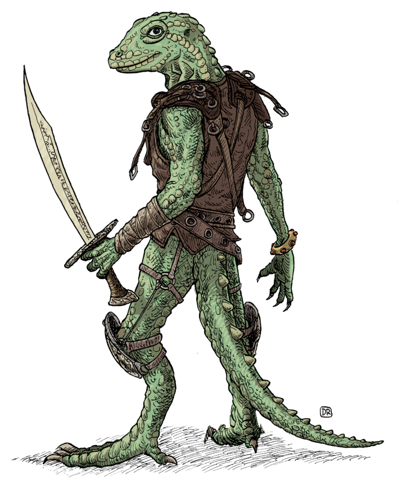 Lizardman By Domigorgon