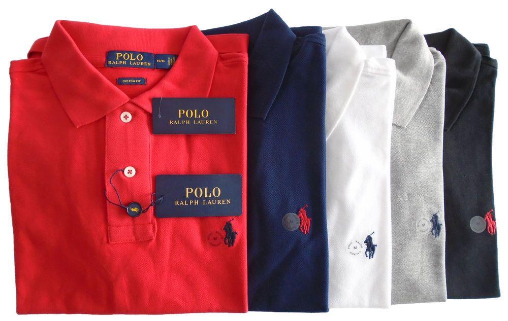 purchase cheap f3ea1 5b018 Ralph Lauren Poloshirt Custom Fit Kurzarm Herren Neu & OVP S ...