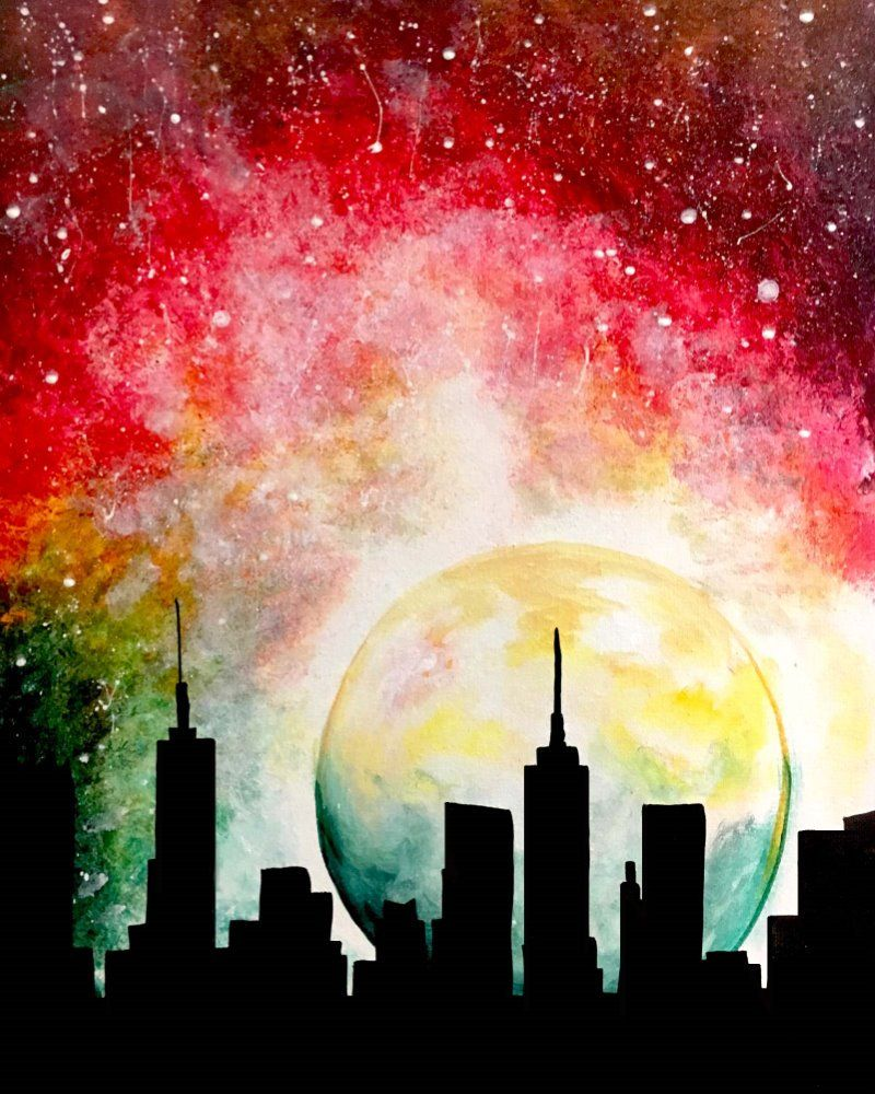 City Moon Muse Paintbar With Images