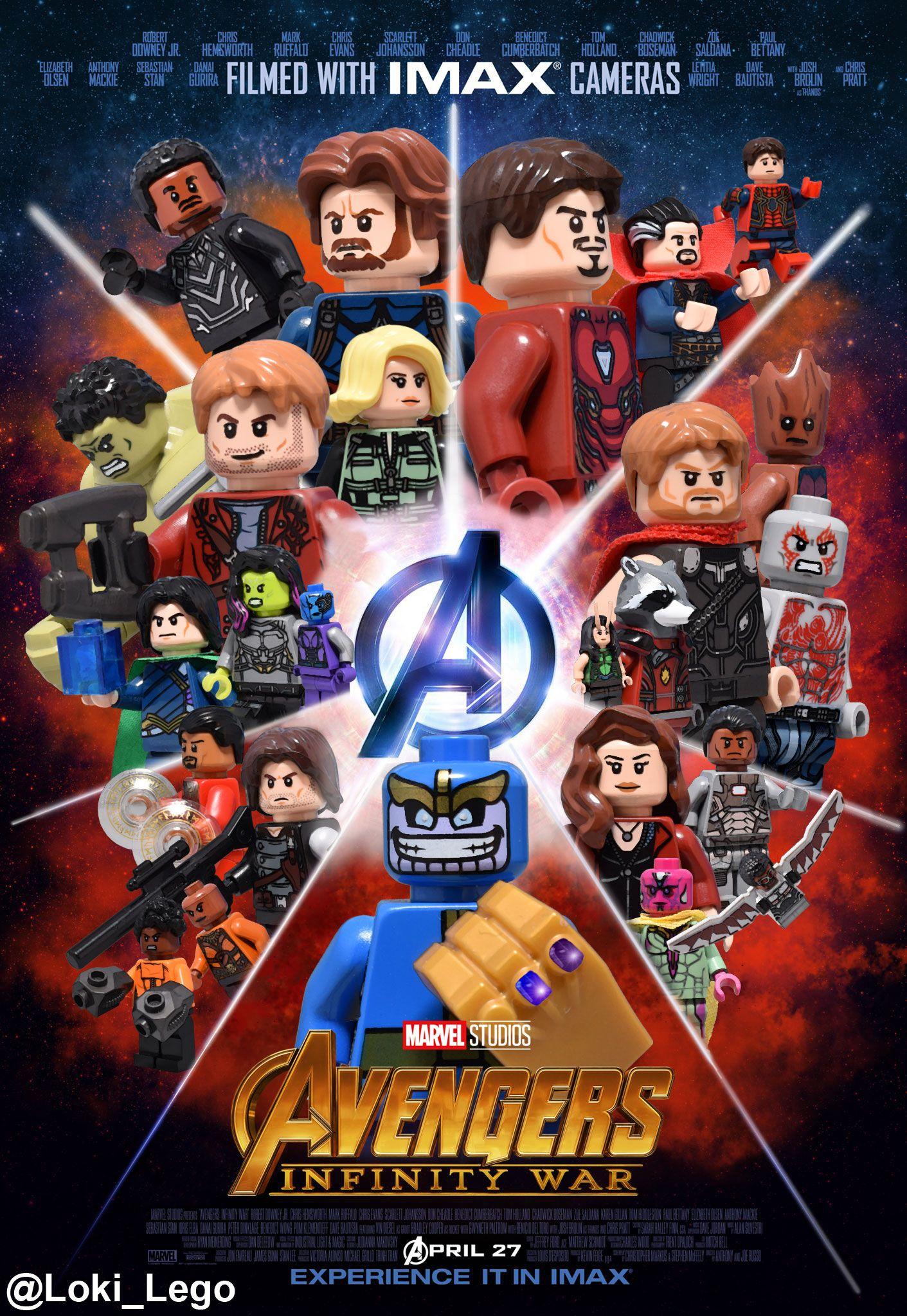 Bildergebnis für avengers infinity war poster lego