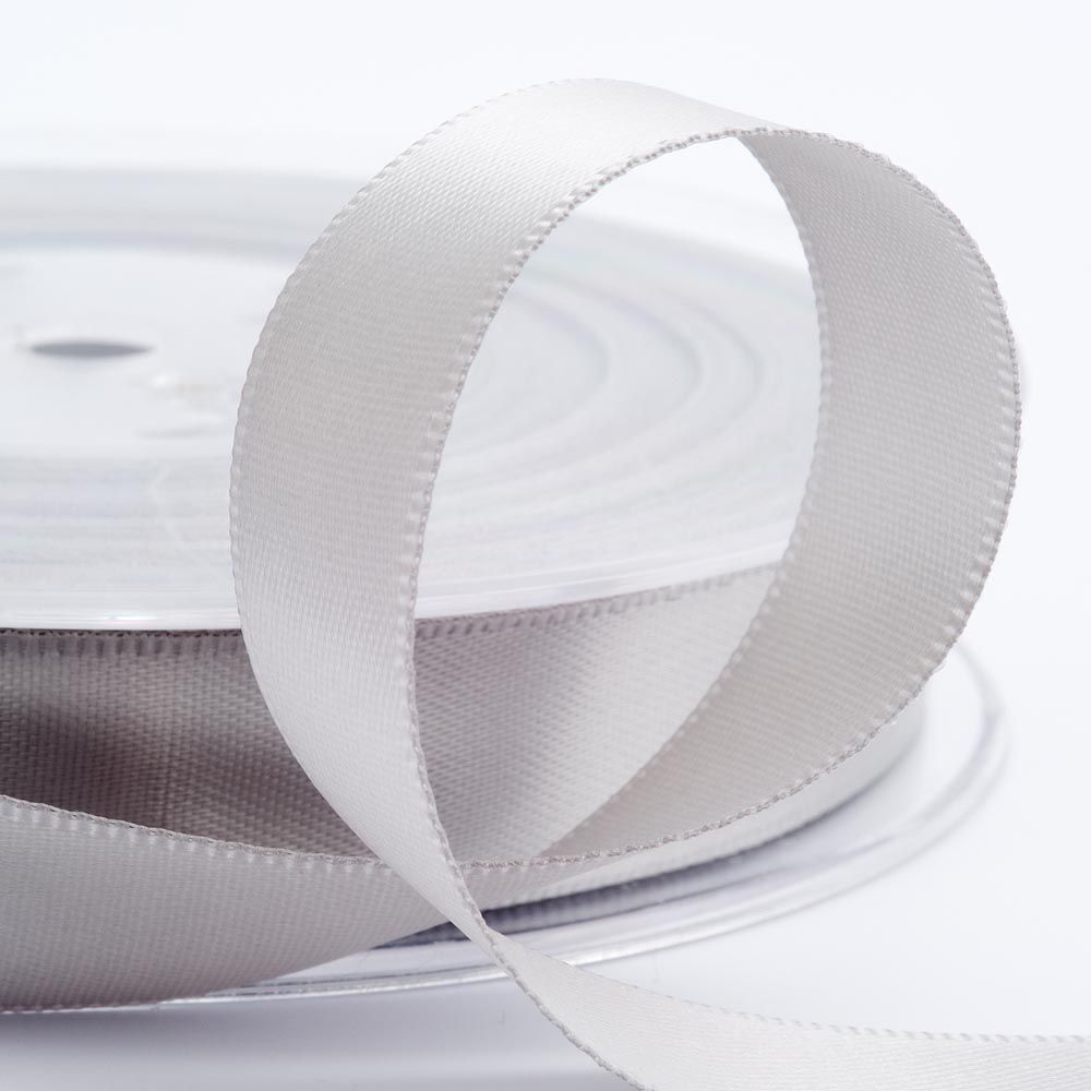 White double faced satin ribbon 3mm 10mm 16mm 25mm 38mm 50mm width