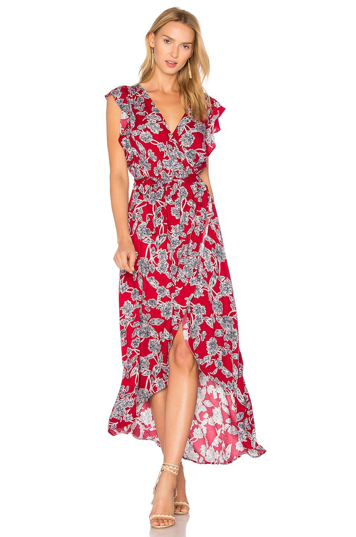 Etched floral wrap dress beet red splendid pinterest dresses
