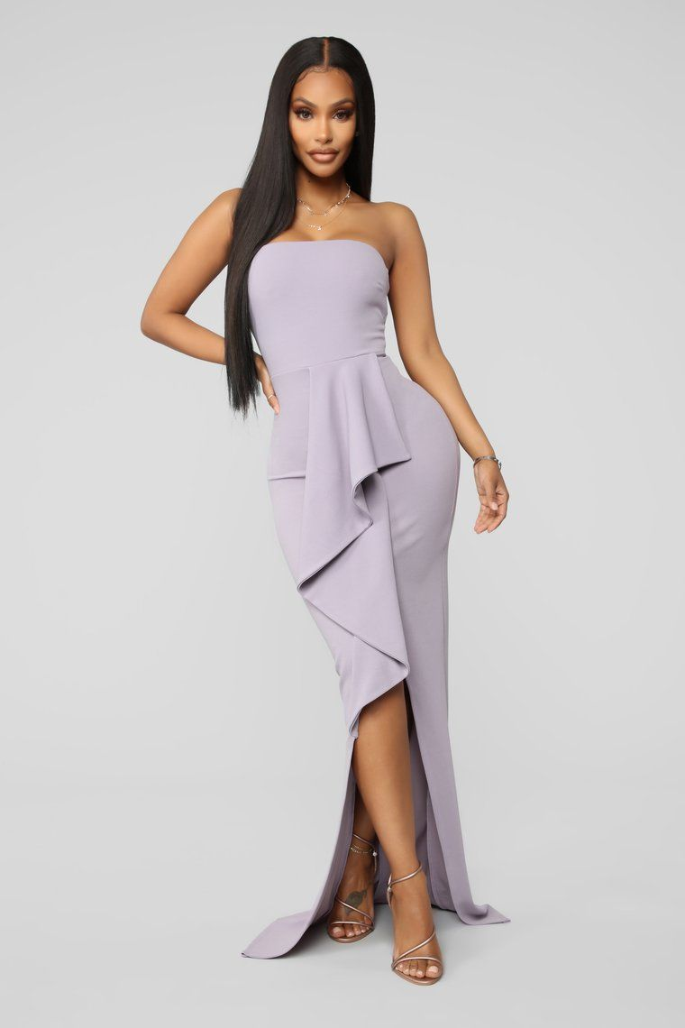 End The Night In Elegance Maxi Gown Lavender Fashion