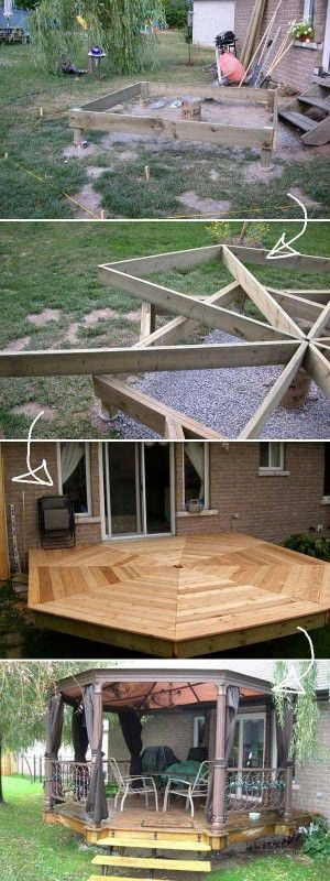 Top 19 Simple and Low-budget Ideas For Building a Floating Deck #deckbuildingtip… Bahçe