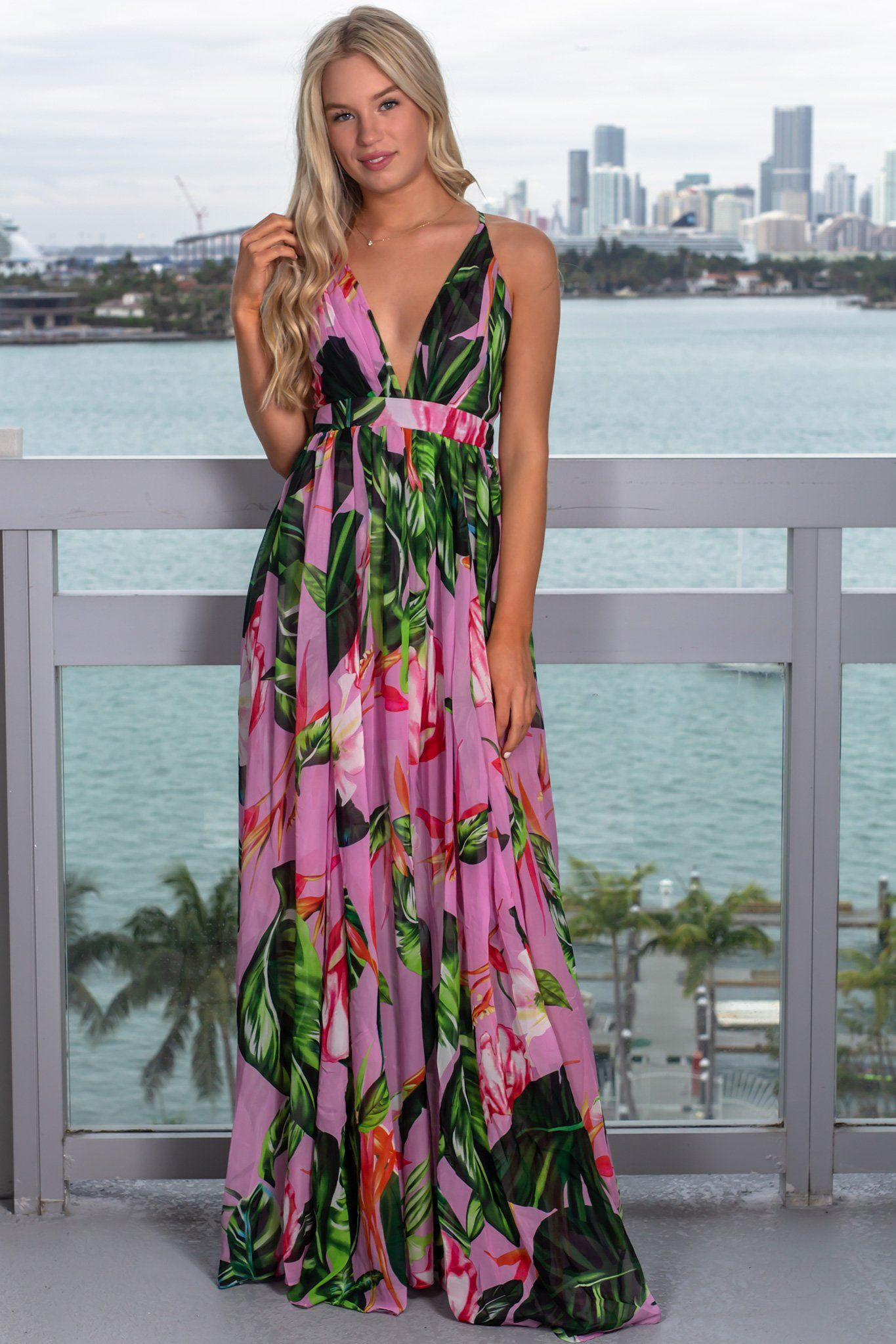 ee9de8091e8 Lilac Maxi Dress | Tropical Floral Maxi Dress | Saved By The Dress – Saved  by the Dress
