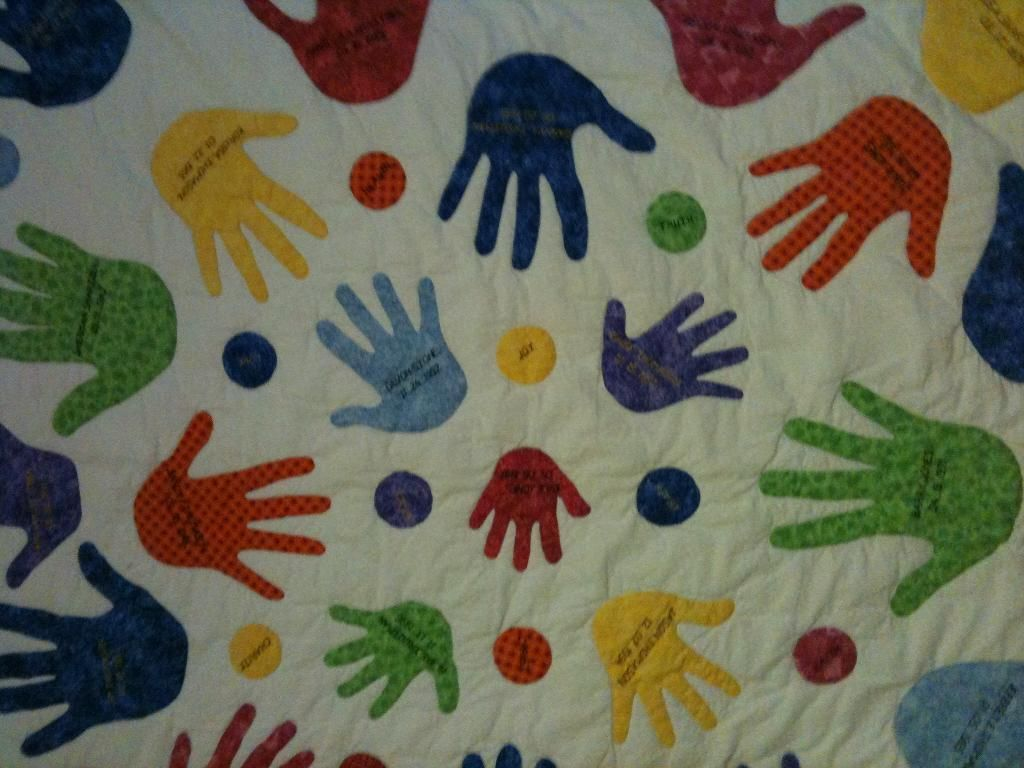 Mothers day contest handprint quilt craft ideas quilts
