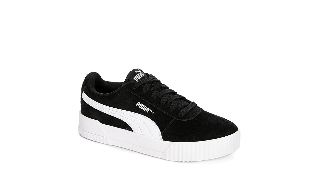 Puma Womens Carina Black With Images Black Puma Puma Broadway Shoes