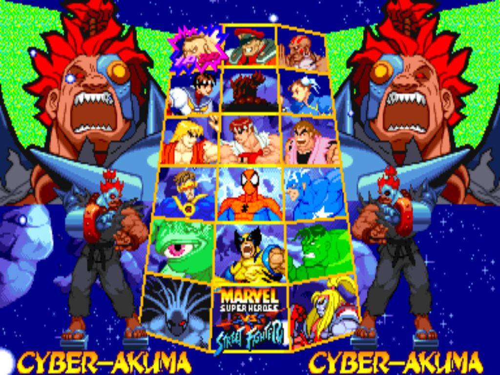 Marvel Super Heroes 60 Superhéroes: Marvel Super Heroes Vs. Street Fighter [Arcade].