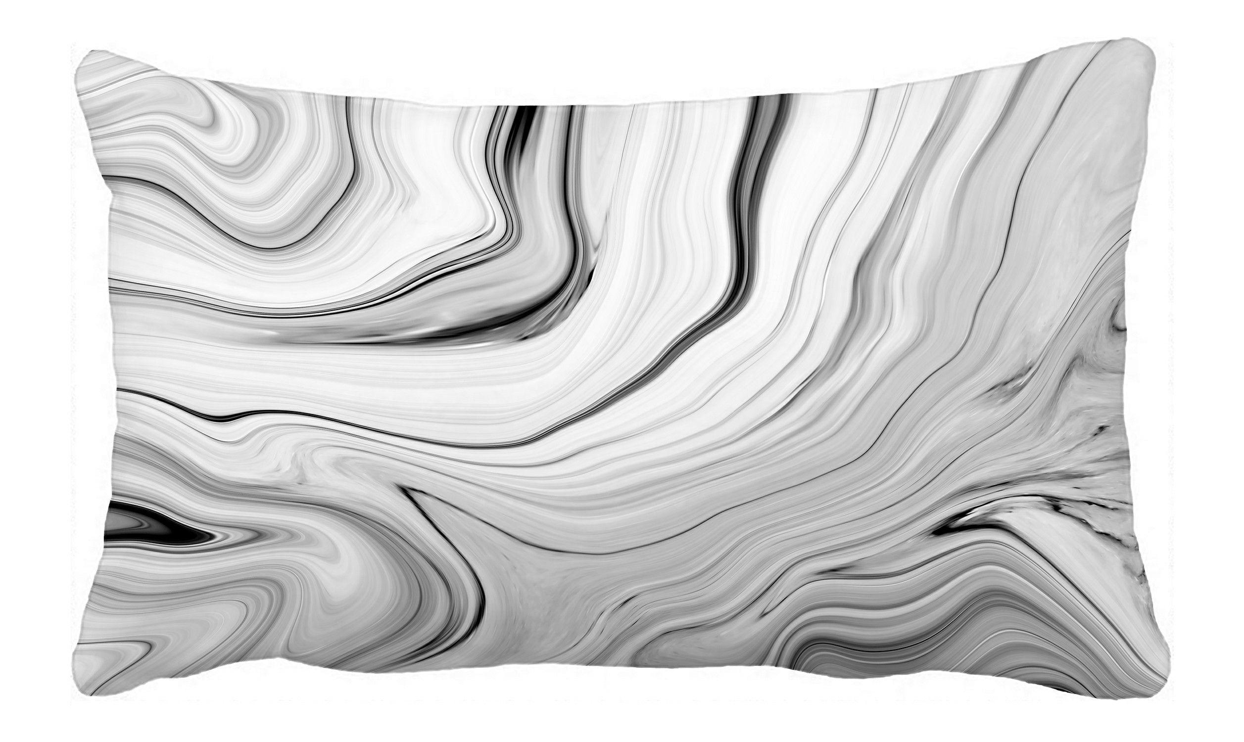 ECZJNT marble texture Black white Handmade technique Pillow Case Pillow Cover Cushion Cover 20x30 Inch