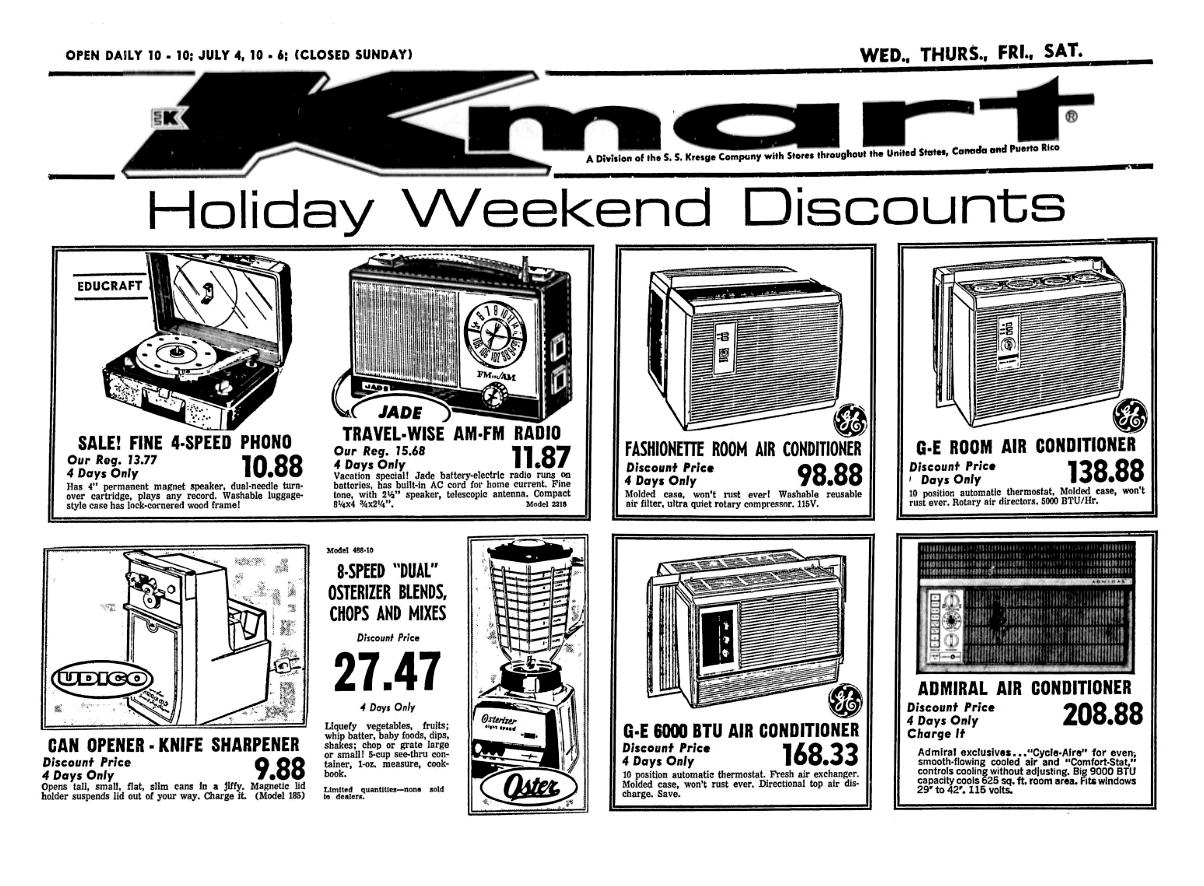 Kmart July 1969 Vintage Advertisements Retro Advertising Vintage Ads