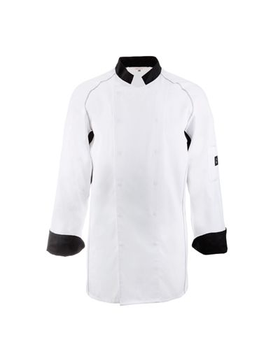 Veste de chef cuisinier 5550 est un v tement de travail confortable et pratique destin aux for Cuisinier un bras