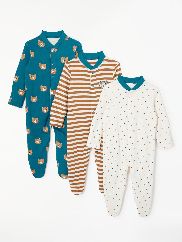 a1f2b680fef BuyJohn Lewis   Partners Baby Bear GOTS Organic Cotton Sleepsuit