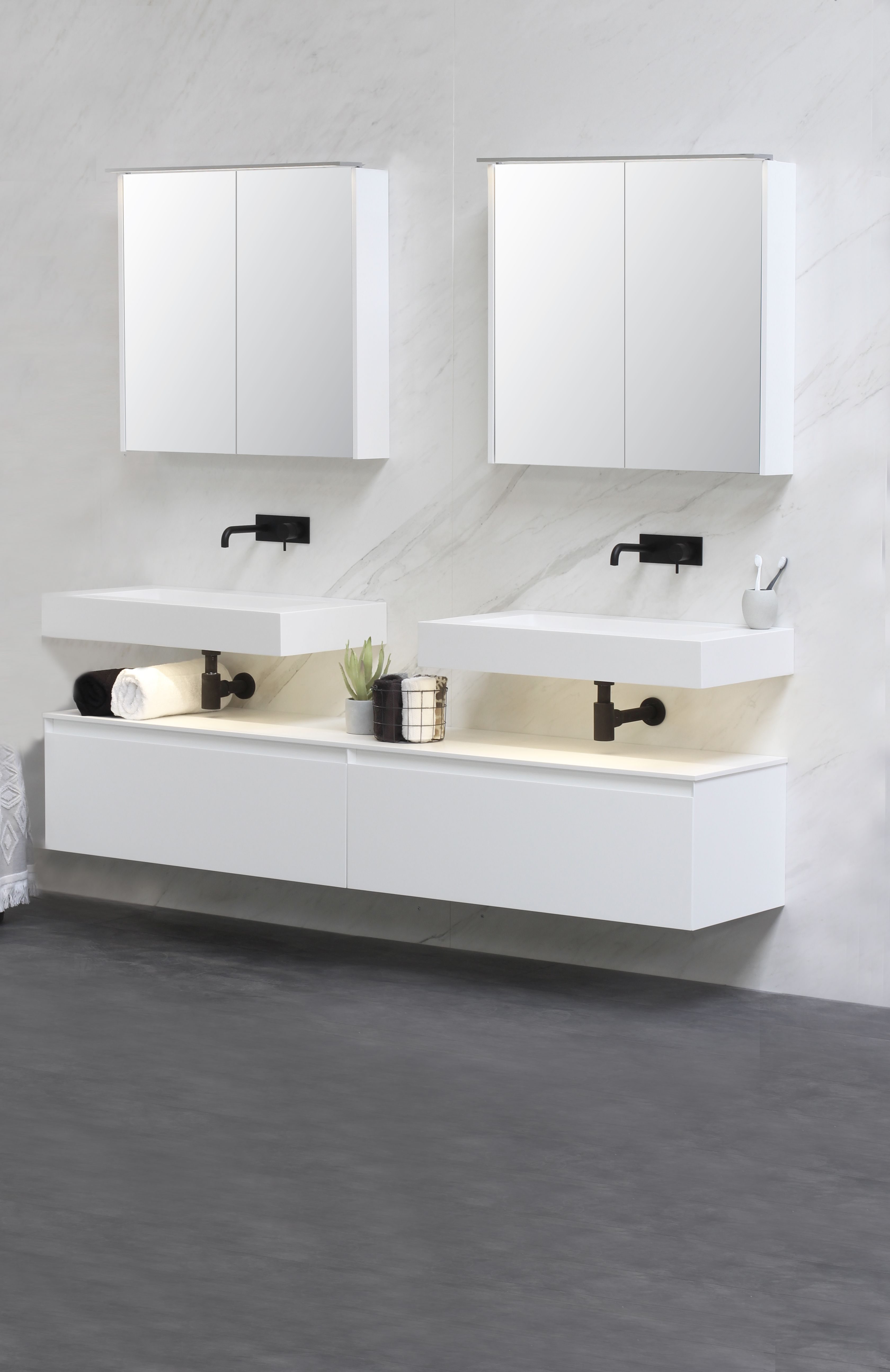 Bliss E\'viva - badkamer - bathroom - design - modern - clean - white ...